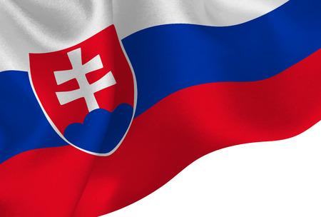 Slovakia national flag background Illusztráció