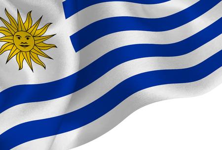Uruguay national flag background