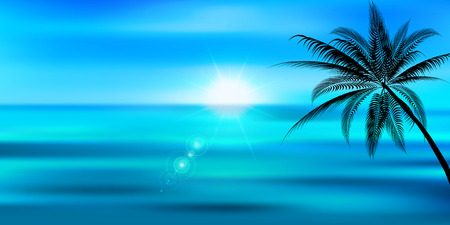 Sea and summer landscape background