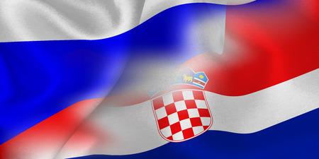Russia Croatia national flag soccer ball  イラスト・ベクター素材