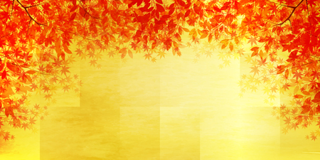 Autumn leaves Maple autumn background 向量圖像