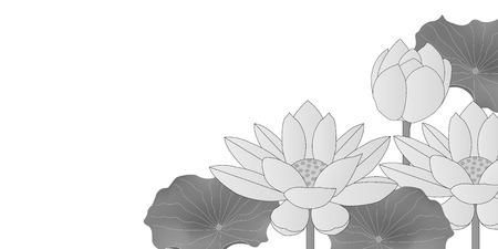 Lotus mourning postcard background Ilustracja