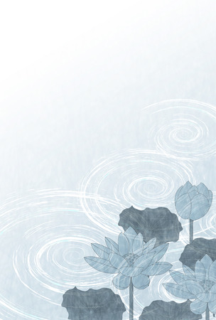 Lotus mourning postcard background Illustration