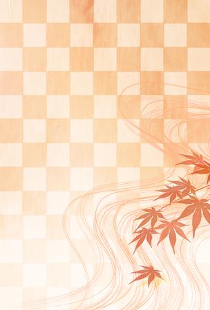 Autumn leaves Maple autumn background Illustration