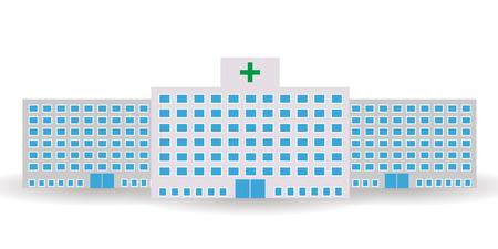 Hospital building window icon