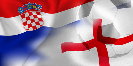 Croatia England national flag soccer ball