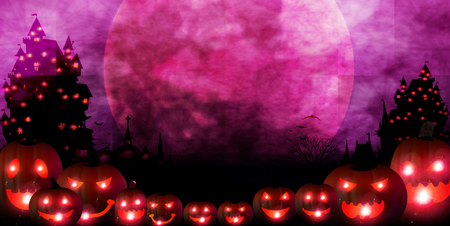 Halloween pumpkin autumn background