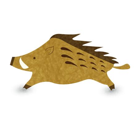 Boar New Year card icon