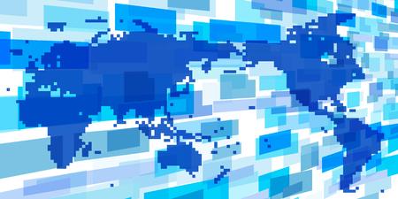Sfondo di rete globale in tutto il mondo