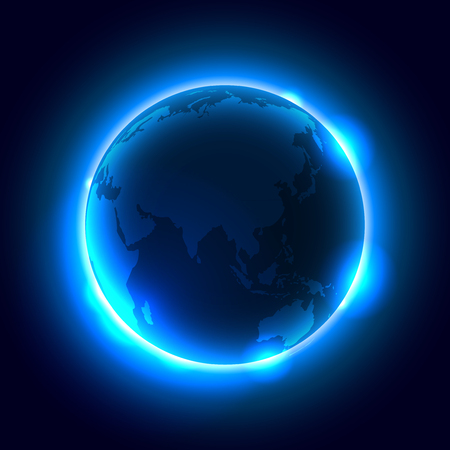 Earth Night Sky Space Background