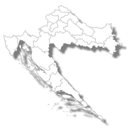 Kroatien Landkarte Symbol