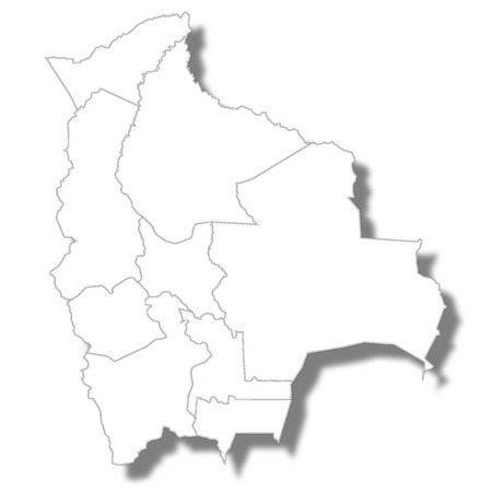 Bolivia country map icon