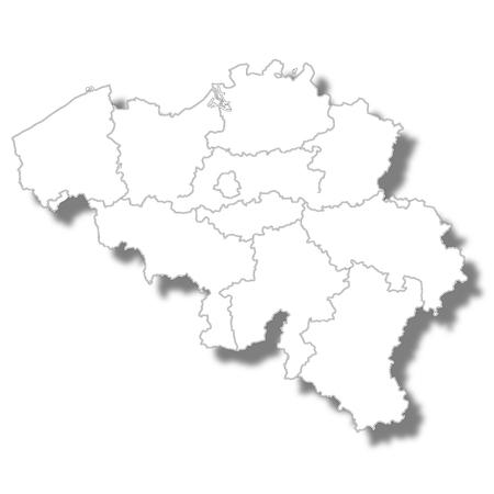 Belgien Landkarte Symbol