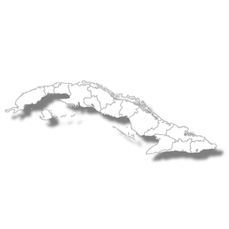 Cuba country map icon Illustration
