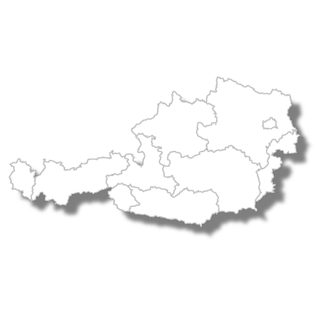 Austria country map icon