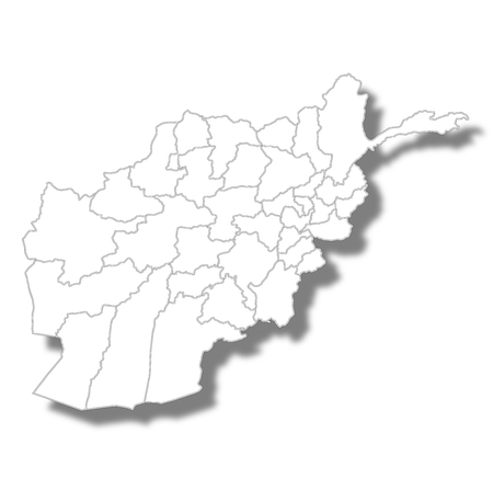 Afghanistan country map icon