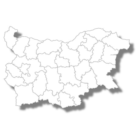 Bulgaria country map icon Ilustrace