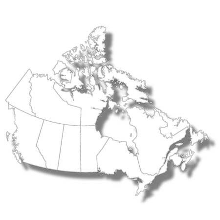 Canada country map icon