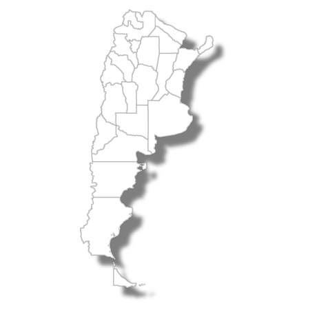 Argentina country map icon Illustration