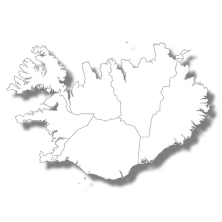Iceland country map icon icon Çizim