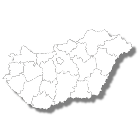 Hungary country map icon