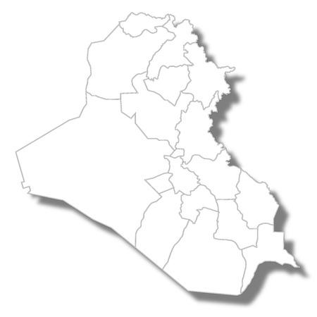 Iraq country map icon Stock Illustratie