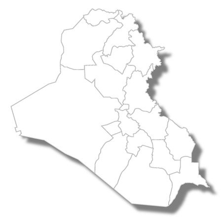 Iraq country map icon Illustration