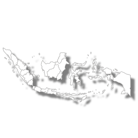 Indonesia country map icon icon  イラスト・ベクター素材