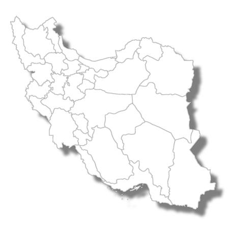 Iran country map icon 일러스트
