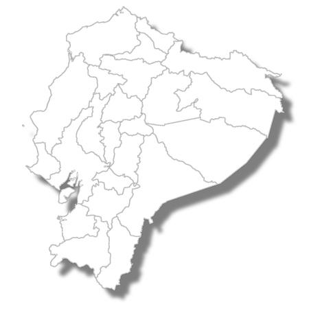 Ecuador country map icon