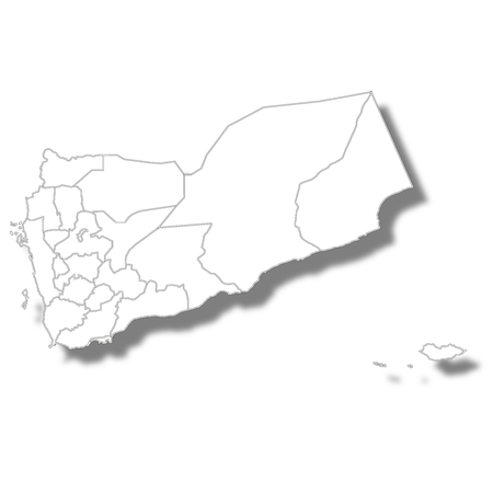 Yemen country map icon