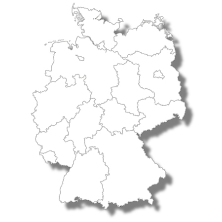 Germany country map icon