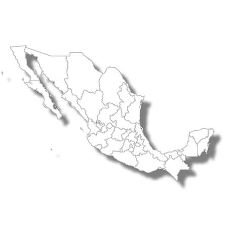 Icono de mapa de país de México Ilustración de vector