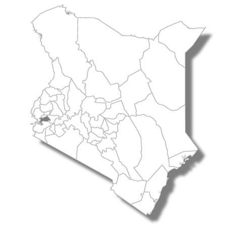 Kenya country map icon Ilustração Vetorial