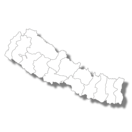 Nepal country map icon  イラスト・ベクター素材