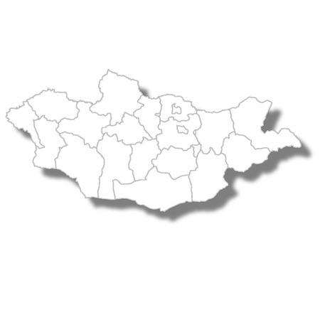 Mongolia country map icon