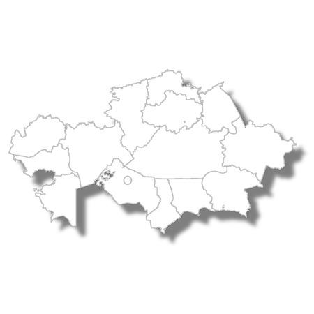 Kazakhstan country map icon