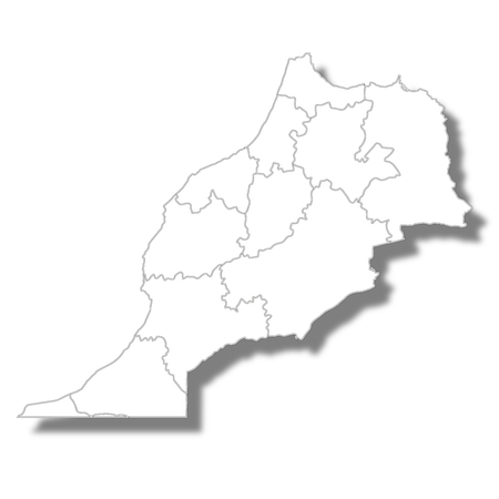 Mauritania country map icon