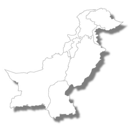 Pakistan country map icon Illustration