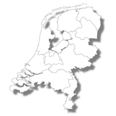 Netherlands country map icon