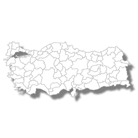 Turkey country map icon