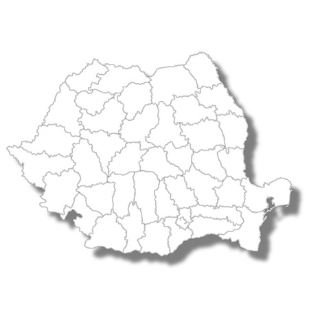 Romania country map icon