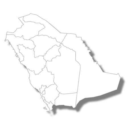 Saudi Arabia country map icon Фото со стока - 106231343