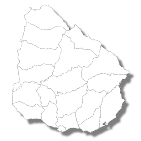 Uruguay country map icon