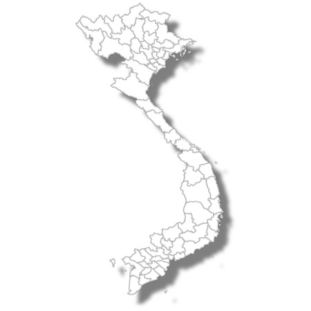 Vietnam country map icon