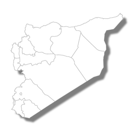 Syria country map icon Vecteurs