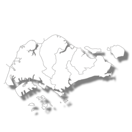 Singapore country map icon