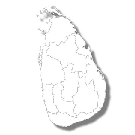 Sri Lanka country map icon