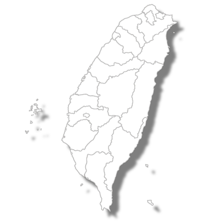 Taiwan country map icon Standard-Bild - 106231267