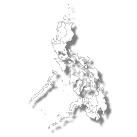 Philippines country map icon Illustration